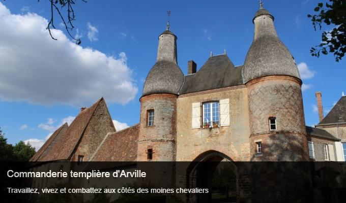 Cliquez sur l'image pour accéder à la fiche sortie de la commanderie templière d'Arville