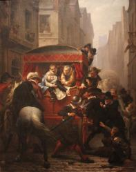 Assassinat de Henri IV par Ravaillac - Gustave Housez - Château de Pau