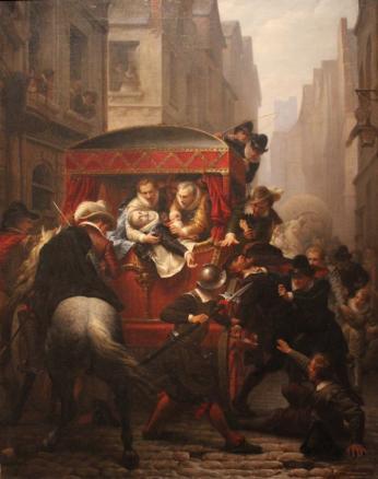 Assassinat de Henri IV par Gustave Housez - Château de Pau