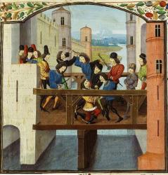 Assassinat de Jean sans Peur au pont de Montereau le 10 septembre 1419