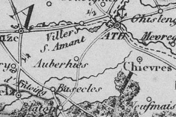 Pour localiser l'archéosite d'Aubechies, cliquez sur la carte