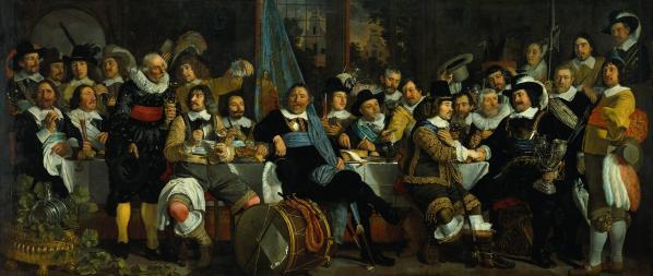 Banquet à la Guilde des Arbalétriers à la célébration du traité de Münster (traité de Westphalie) par Bartholomeus van der Helst