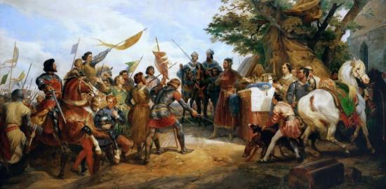 La bataille de Bouvines - Horace Vernet