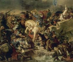 Bataille de Taillebourg - 21 juillet 1242 - Eugène Delacroix