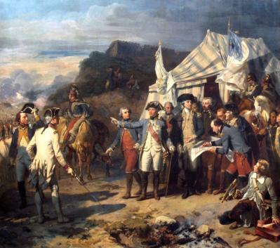 La bataille de Yorktown par Auguste Couder - Galerie des batailles - Château de Versailles