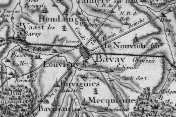 Pour localiser le forum antique de Bavay, cliquez sur la carte