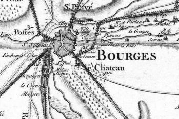 Pour localiser le palais de Jacques Coeur, cliquez sur la carte