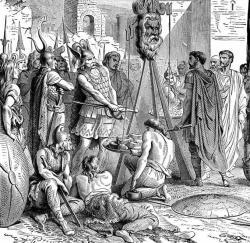 Brennus jetant son épée dans la balance