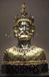 Buste reliquaire de Charlemagne au trésor d'Aix la Chapelle (Aachen)