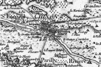 Pour localiser la forteresse Royale de Chinon, cliquez sur la carte