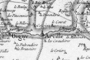 Pour localiser la Commanderie Templière d'Arville, cliquez sur la carte