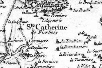 Pour localiser l'église de Sainte Catherine de Fierbois, cliquez sur la carte