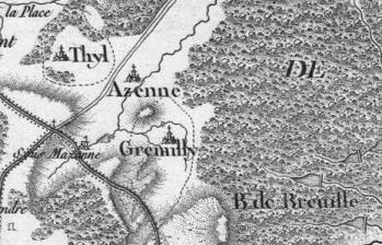 Pour localiser le village des vieux métiers d'Azannes, cliquez sur la carte
