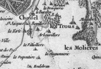 Pour localiser le château de Breteuil, cliquez sur la carte