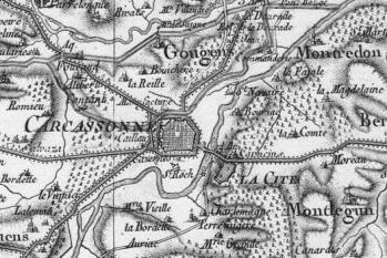 Pour localiser la cité médiévale de Carcassonne, cliquez sur la carte