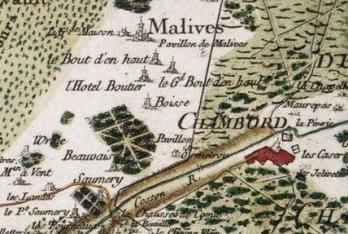 Pour localiser le domaine de Chambord, cliquez sur la carte