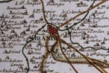Pour localiser le théâtre antique d'Orange, cliquez sur la carte