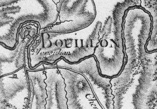Pour localiser le château de Godefroy de Bouillon, cliquez sur la carte