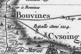 Pour localiser l'église St Pierre de Bouvines, cliquez sur la carte