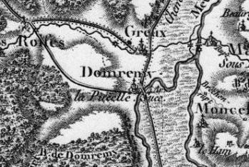 Pour localiser la maison natale de Ste Jehanne d'Arc et la Basilique du Bois-Chenu, cliquez sur la carte