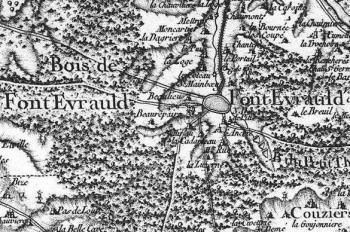 Pour localiser l'abbaye de Fontevraud, cliquez sur la carte