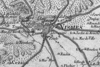 Pour localiser les arènes de Nîmes, cliquez sur la carte