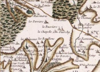 Pour localiser le chantier médiéval de Guédelon, cliquez sur la carte
