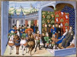 Charles VI et Isabeau de Bavière au traité de Troyes en 1420