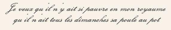 Citation d'Henri IV