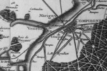 Pour localiser le palais de Compiègne, cliquez sur la carte