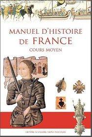 Manuel d'histoire de l'oeuvre scolaire St Nicolas