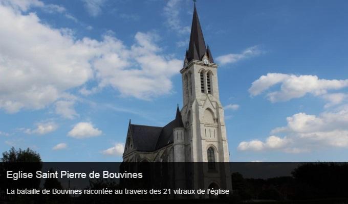Cliquez sur l'image pour accéder à la fiche sortie de l'église Saint Pierre de Bouvines