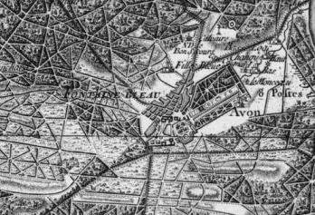 Pour localiser le Château de Fontainebleau, cliquez sur la carte