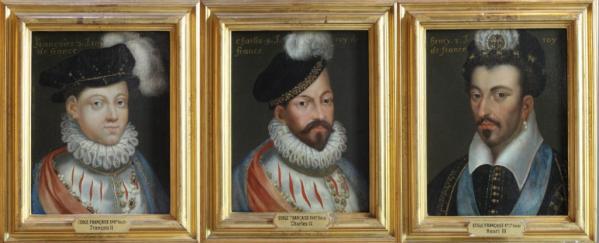Francois II, Charles IX, Henri III -  Château de Blois