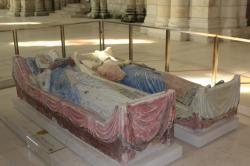 Gisants d'Aliénor d'Aquitaine et d'Henri II Plantagenêt - Abbaye de Fontevraud