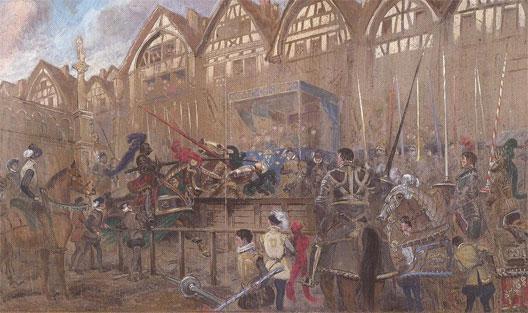 Henri II blessé par Montgomery - Edouard Detaille - Musée de l'armée