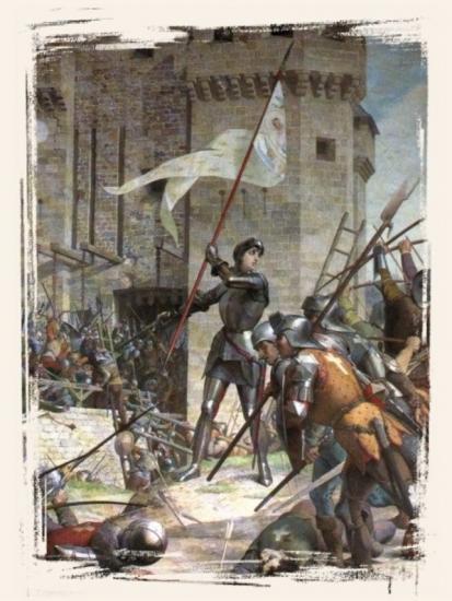Jeanne d'Arc au siège d'Orléans par Jules Lenepveu