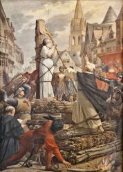 Jeanne d'Arc sur le bûcher par Jules-Eugène Lenepveu