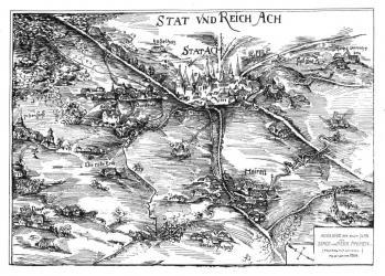 Pour localiser le trésor d'Aix la Chapelle, cliquez sur la carte