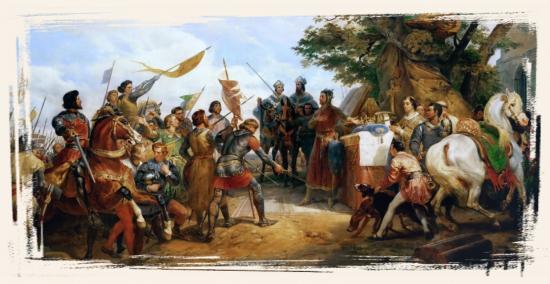 La bataille de Bouvines par Horace Vernet - Dimanche 27 juillet 1214