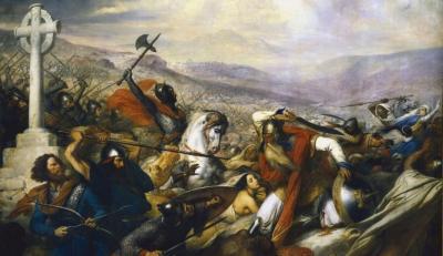 Cliquez sur l'image pour accéder au cours sur Charles Martel et Pépin le Bref