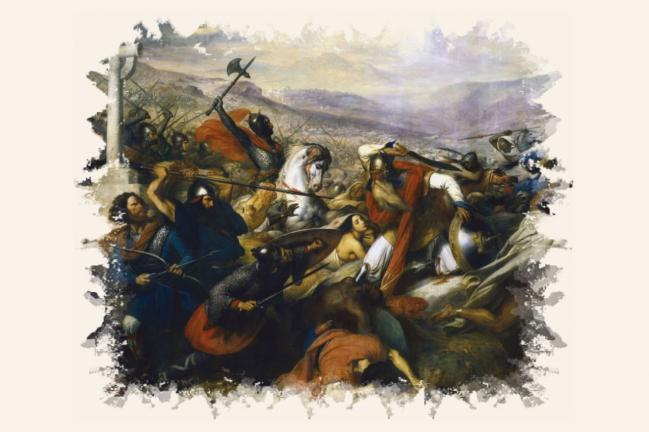 La bataille de Poitiers par Steuben