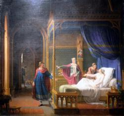La déférence de Saint Louis pour sa mère -Fleury François Richard