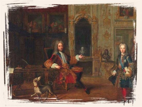 La régence - Philippe d'Orléans et Louis XV