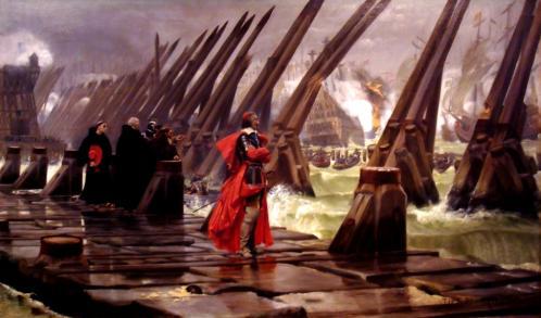 Le cardinal de Richelieu au siège de la Rochelle par Henri-Paul Motte
