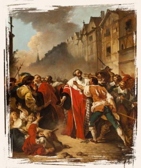 Le président Molé saisi par les factieux aux temps des guerres de la Fronde - François-André Vincent