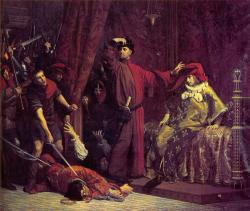 Le prévôt des marchands Etienne Marcel et le dauphin Charles par Lucien Mélingue
