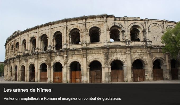 Cliquez sur l'image pour accéder à la fiche sortie des arènes de Nîmes