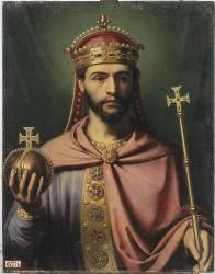 Louis Ier dit le Pieux ou le Débonnaire (Règne de 814 à 840)  empereur d'Occident - Jean Joseph Dassy