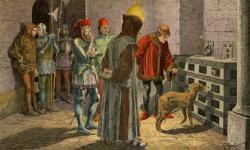 Louis XI devant la cage du cardinal de La Balue par Grobet